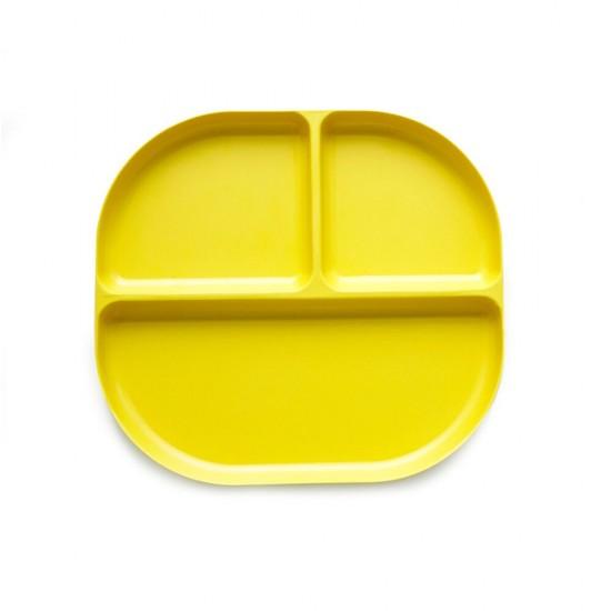 Ekobo Bamboo δίσκος φαγητού με χωρίσματα (κίτρινο)