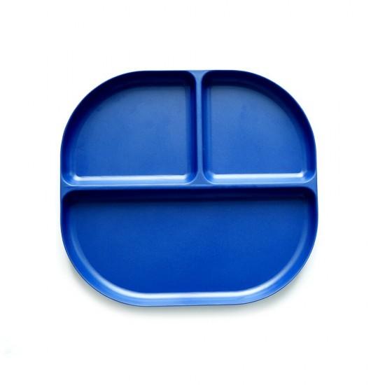 Ekobo Bamboo δίσκος φαγητού με χωρίσματα (μπλε)