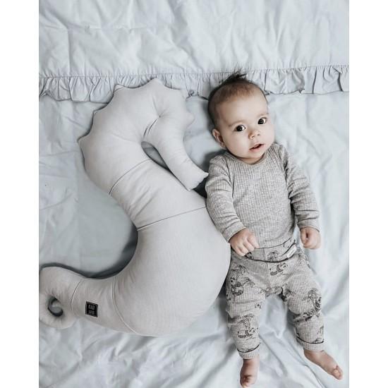 Kadaro Μαξιλάρι Θηλασμού Velvet - Nepto Seashell Grey
