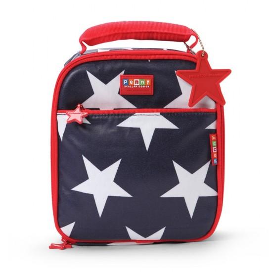 "Penny Scallan Θερμομονωτική τσάντα φαγητού Μεσαία ""Navy Star"""