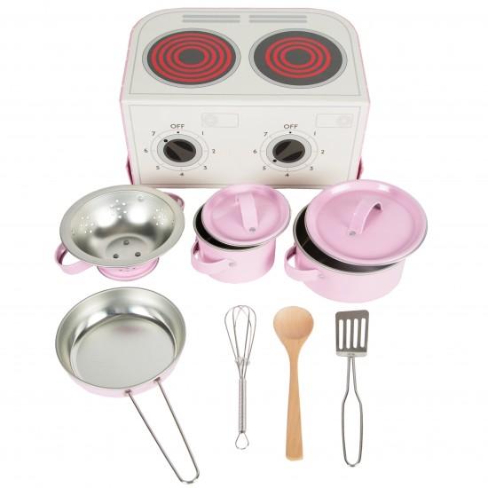 Sass & Belle Βαλιτσάκι Σετ μαγειρικής -Παστέλ Ροζ